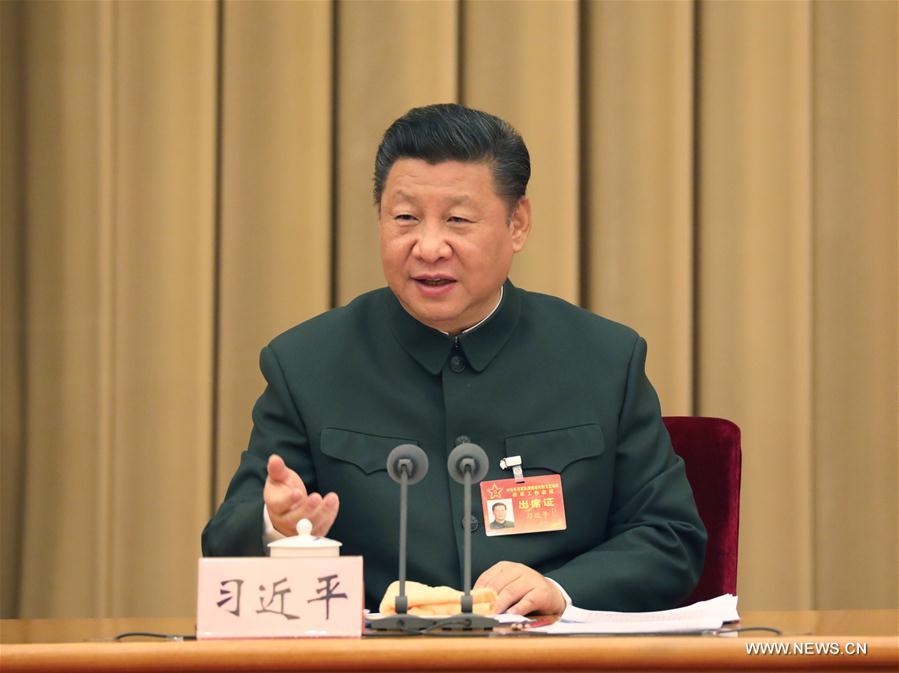 (时政)(1)习近平出席中央军委军队规模结构和力量编成改革工作会议并发表重要讲话
