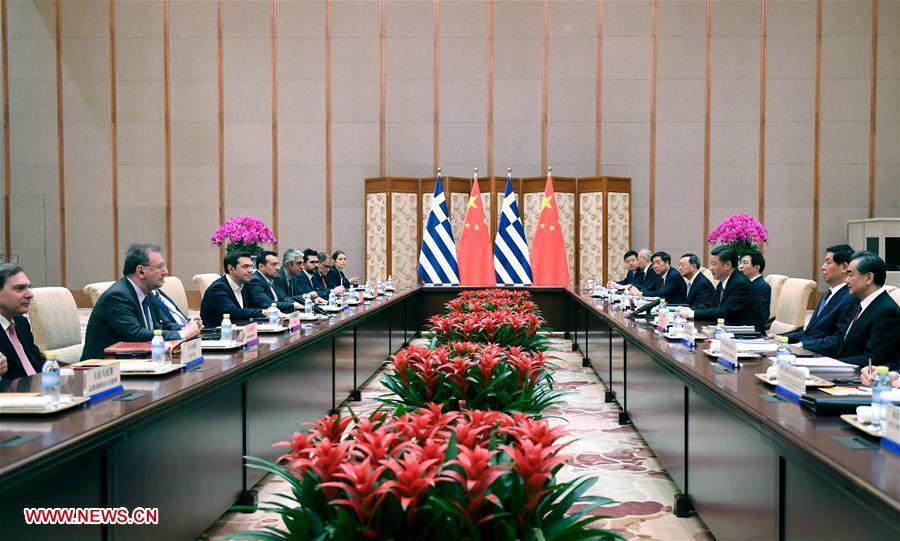 (XHDW)习近平会见希腊总理齐普拉斯