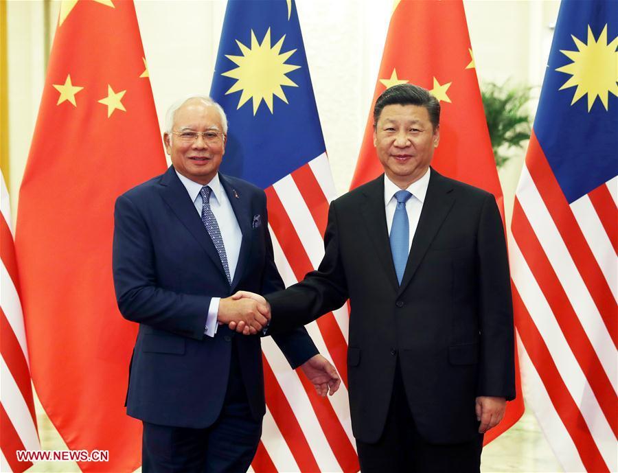 (一带一路·高峰论坛)习近平会见马来西亚总理纳吉布