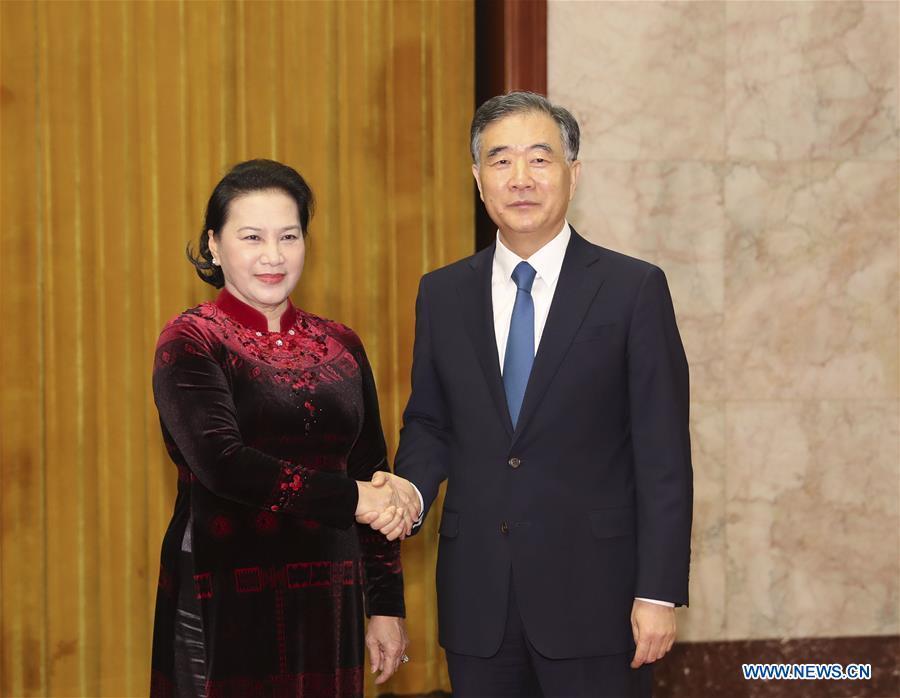 Le plus haut conseiller politique chinois s'entretient avec la plus haute législatrice vietnamienne_French.news.cn - 新华网