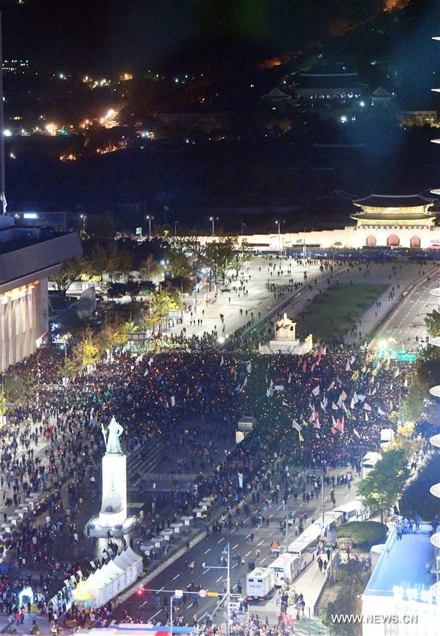 République de Corée : manifestation contre le scandal présidentiel