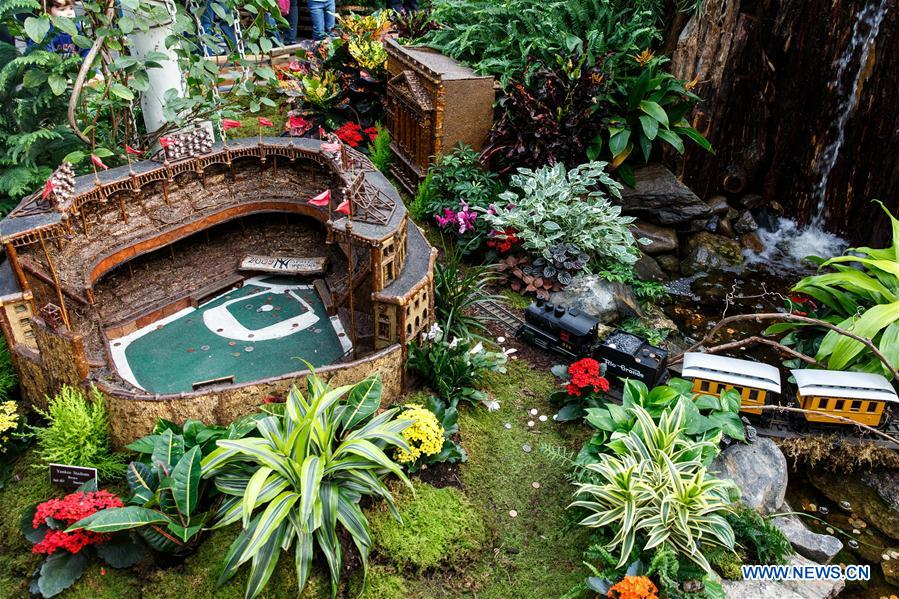 Le petit train du jardin botanique de new york en images for Jardin new york