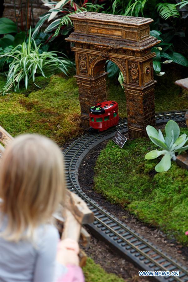 Le petit train du jardin botanique de new york en images for Jardin botanique decembre 2015