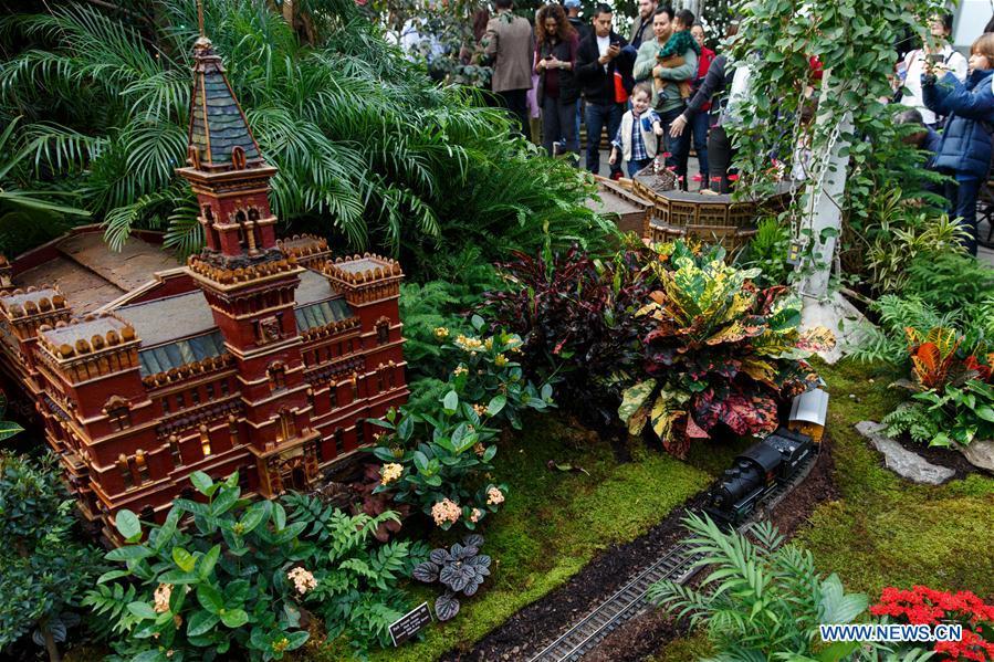 Le petit train du jardin botanique de new york en images for Jardin botanique noel 2015