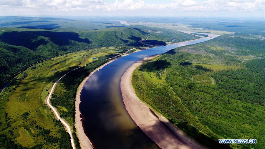 Chine : paysage de la rivière heilongjiang french.news.cn