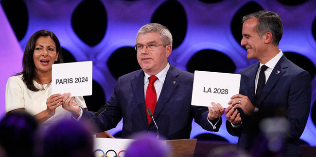 Le CIO attribue les JO 2024 à Paris et les JO 2028 à Los Angeles