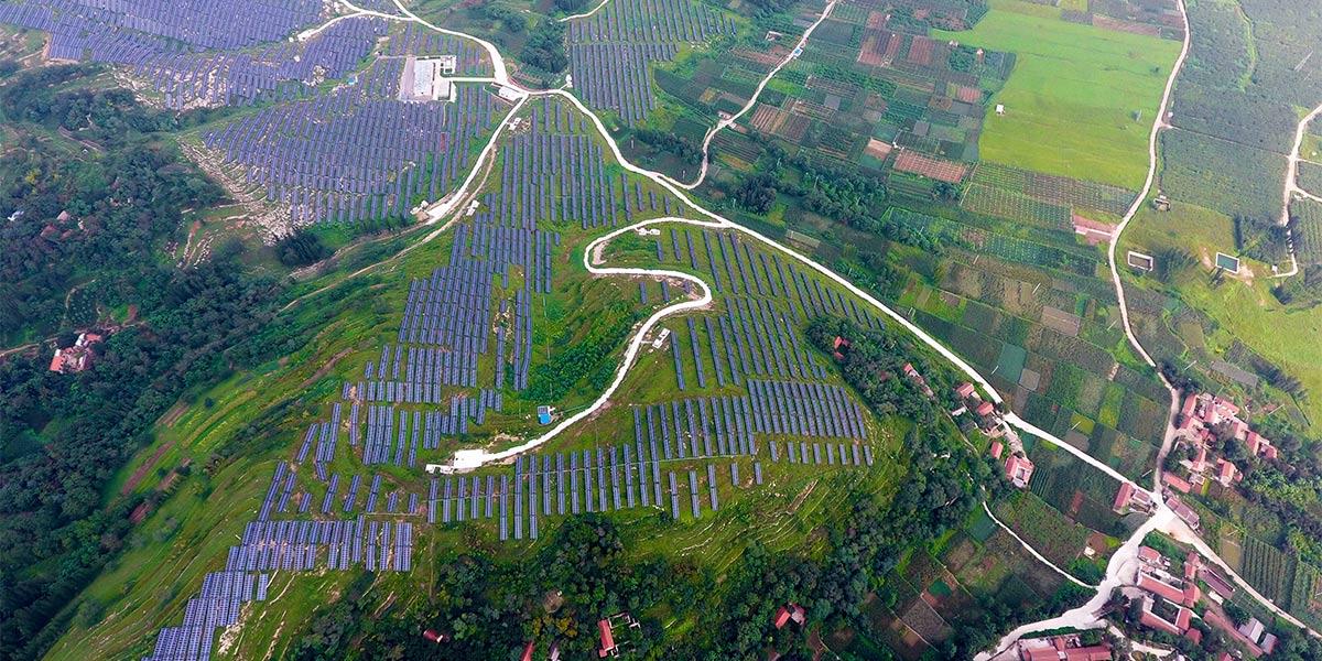 Chine : centrale solaire photovoltaïque au Shandong