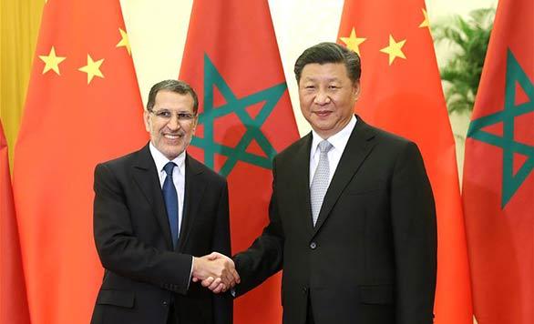 Xi Jinping rencontre le Premier ministre marocain