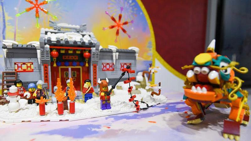 Chine : le stand du Groupe Lego à la CIIE