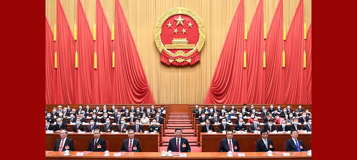 (Deux Sessions) L'organe législatif suprême de la Chine tient la réunion de clôture de sa session annuelle