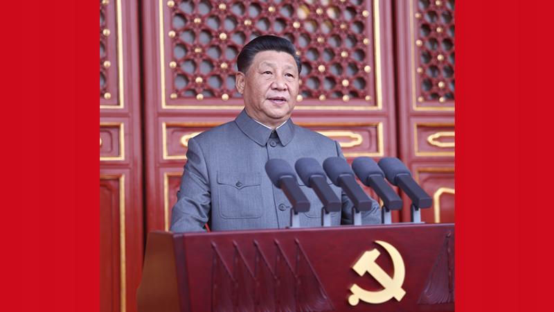 Xi Jinping prononce un discours à la cérémonie marquant le centenaire du PCC