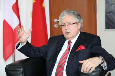 Vidéo: Interview exclusive de l'ambassadeur de Suisse en Chine