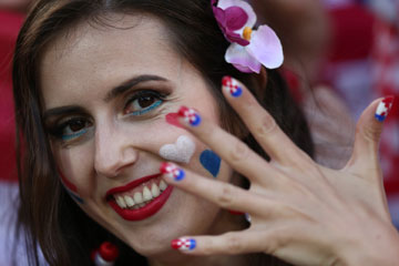 Photos - De belles supportrices enthousiastes de l'Euro 2016