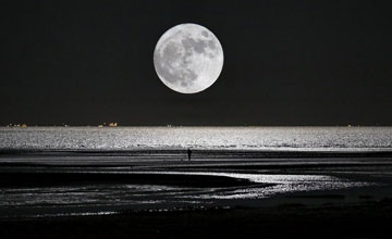 La « superlune » vue en Chine