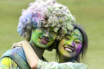 "Photos: la ""Color Run"" au Jiangxi"