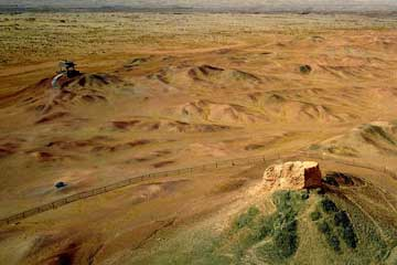 Chine : paysages de Dunhuang