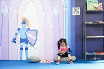 Chine : des enfants au Salon international du livre de Beijing
