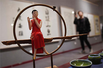 Chine: Une exposition d'art à Changsha