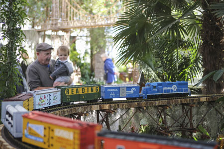 "Etats-Unis : le ""Holiday Train Show"""