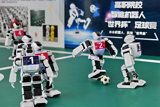 Chine : match de football entre des robots à Beijing