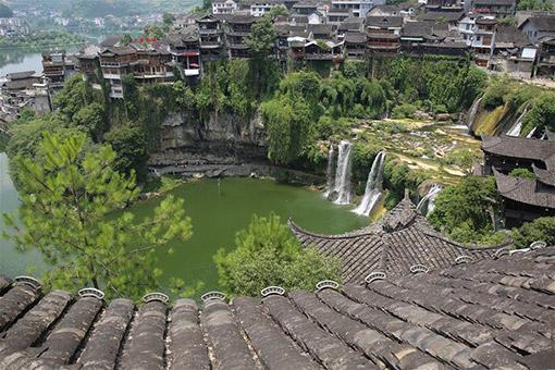 Chine : paysage de cascades dans le Hunan