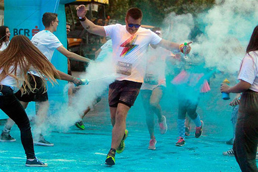 """Color run"" à Bucarest"