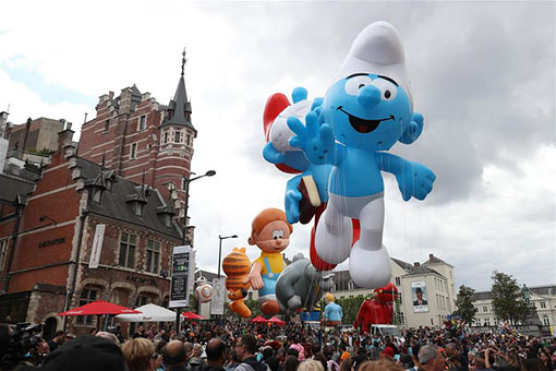 Belgique: la Balloon's Day Parade à Bruxelles
