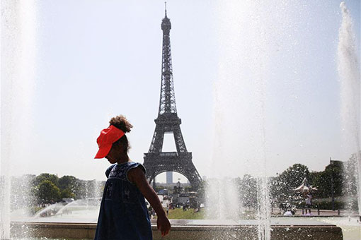 France : canicule à Paris