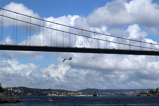 Turquie: paysage automnal d'Istanbul